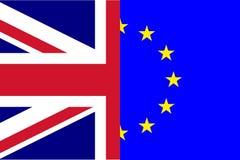 Divórcio de Brexit da bandeira do Reino Unido Union Jack e da UE Euopean ilustração stock
