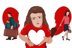 Divórcio dos pais ilustração stock