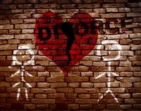 Divórcio vermelho quebrado do coração foto de stock royalty free