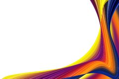 Divórcios da cor em um fundo branco Ilustração do Vetor