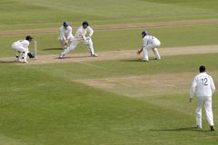 Div 1 County Cricket Stock Photo