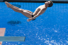 DIV: Final 3m men's diving competition. Jul 23 2009; Rome Italy; Chris Colwill (USA) competing in the final round of the men's 3m springboard diving competition Royalty Free Stock Photography
