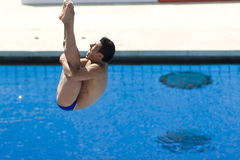 DIV: Final 3m men's diving competition Royalty Free Stock Photo