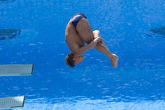 DIV: Final 3m men's diving competition Stock Image