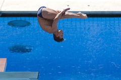DIV: Final 3m men's diving competition Stock Photos
