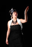 Diva da ópera fotografia de stock royalty free