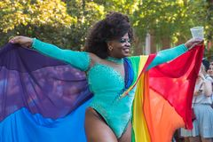 Madrid, Spain - 07 July 2019 - Gay Pride, Orgullo Gay Parade Diva royalty free stock images