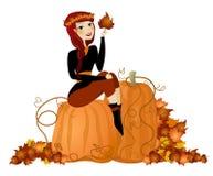 Diva de potiron d'automne Photo stock