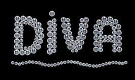 Diva del diamante Fotografia Stock