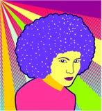Diva do disco - vetor ilustração royalty free