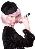 Diva en el Mike Fotos de archivo