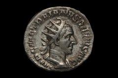 Diva Faustina roman coin. Roman silver coin, denarius of Roman emperor Stock Images