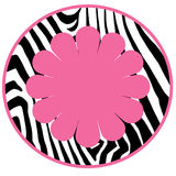 Diva Girl Zebra Background Circle Stock Images