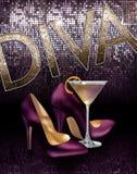 Diva Girls About Town Cocktail hielt Achtergrond Stock Foto