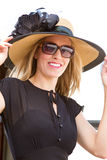 Diva lady. Wearing a hat Stock Photos