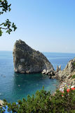 Diva rock. In the Black Sea in Crimea Royalty Free Stock Images