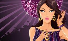 Diva van de disco royalty-vrije illustratie