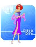 Diva van de disco Stock Foto's