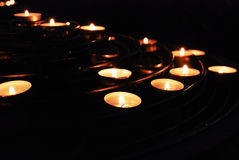 Divali candles. Candles during Divali festival in India Royalty Free Stock Image
