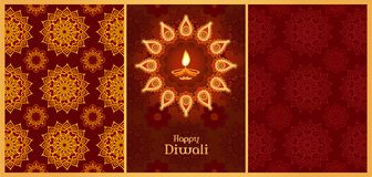 Divali backgrounds set stock illustration