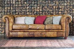 Divan de sofa de fauteuil Image libre de droits