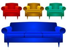 Divan et fauteuils illustration stock