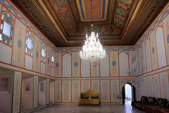 The Divan hall and the thron in Khan's Palace in Bakhchisaray town (Crimea) Stock Images