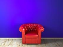 Divan rouge Photo stock