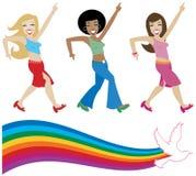 Divas do disco ilustração royalty free
