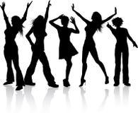 Divas van de disco stock illustratie