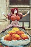 Divas, van het B-Pasvorm het Internationale Festival Straattheater, Buchares Stock Fotografie
