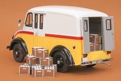 divcoen för 50 leverans mjölkar skåpbilen Royaltyfri Foto