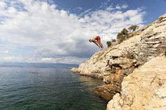 Dive in the Adriatic sea Royalty Free Stock Photo