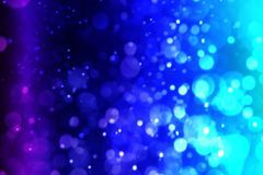 Dive Aqua vivid blue bokeh abstract background. For summer festival stock image