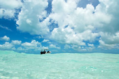 Dive boat in Los Roques Stock Images