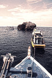 Dive Boat Parking Royalty Free Stock Image
