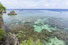 Dive Boats at Black Rock Dive Spot Royalty Free Stock Photos
