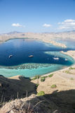 Dive Boats in Komodo National Park Stock Images