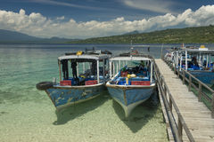 Dive Boats at Menjangan Island Stock Image