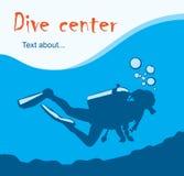 Dive center design. Flyer; vector Stock Photos