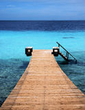 Dive dock. Into the ocean in Curacao stock photos
