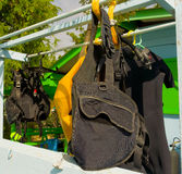 Dive gear drying in the sun Royalty Free Stock Images