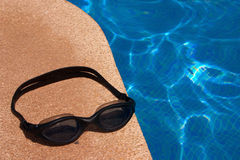 Dive Goggles at Swimming Pool - 1 Royalty Free Stock Images