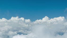 Dive into heavy clouds. Natural introduction for video Royalty Free Stock Image