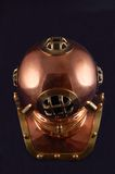 Dive helmet. Old style copper diving helmet Stock Photography