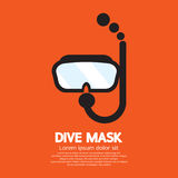 Dive Mask. Mask And Tube For Diving Vector Illustration Royalty Free Stock Photos