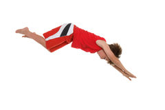 Dive right in. A boy in action. Some motion in shorts. Browse more of my Kids Pics royalty free stock images