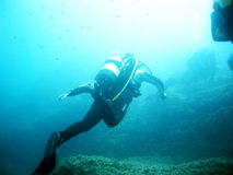 Dive in salento Stock Images