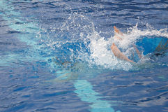 Dive splash. A Dive splash with feet Royalty Free Stock Photos