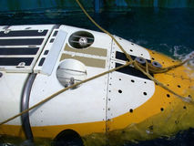 Dive submarine closeup in Male, Maldives - August 30, 2003. Royalty Free Stock Photography